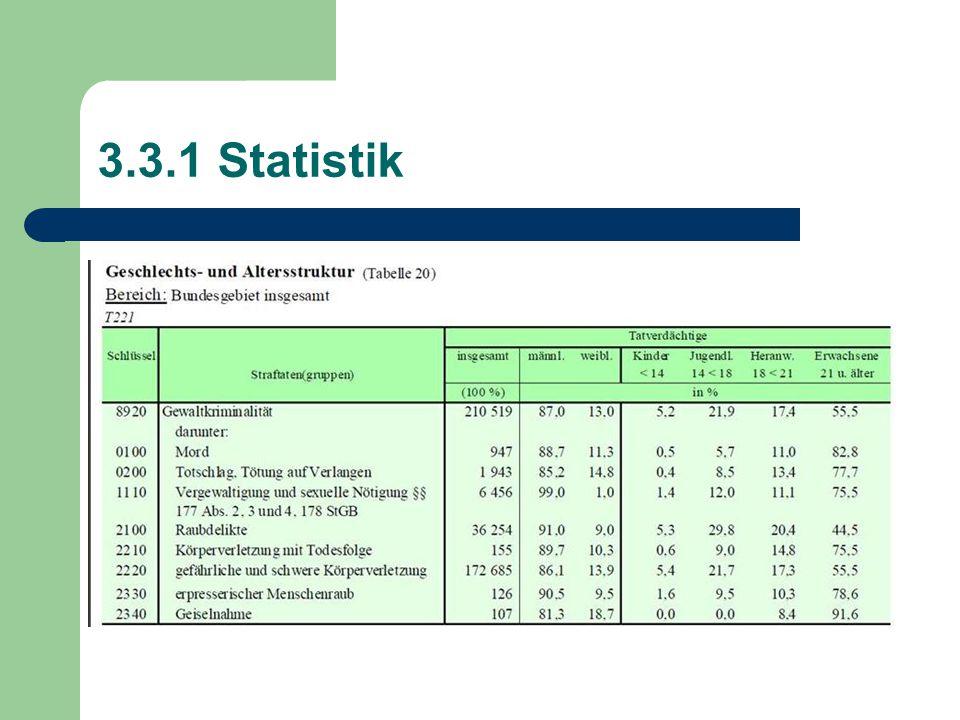 3.3.1 Statistik