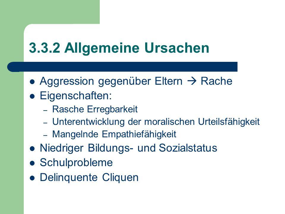 3.3.2 Allgemeine Ursachen Aggression gegenüber Eltern  Rache