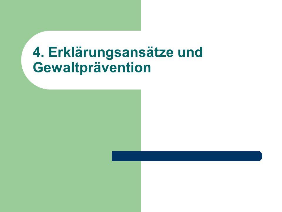 4. Erklärungsansätze und Gewaltprävention