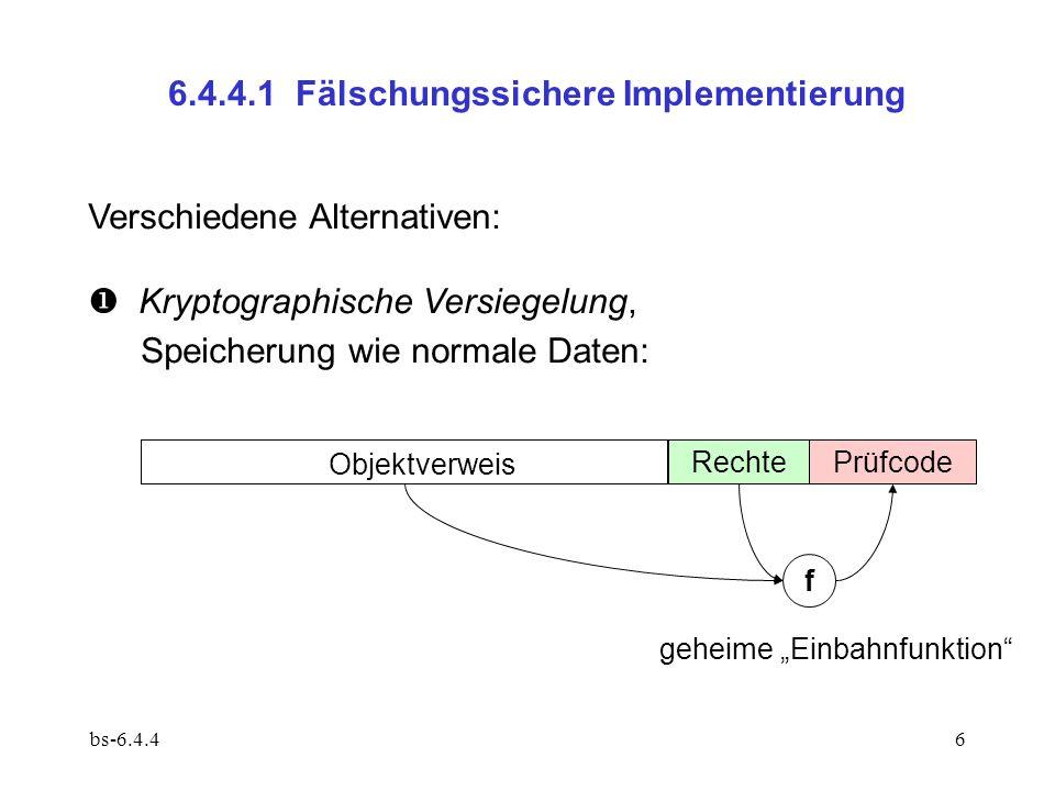6.4.4.1 Fälschungssichere Implementierung