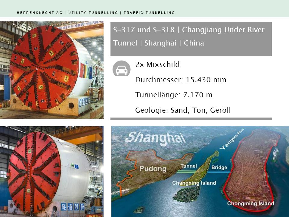 S-317 und S-318 | Changjiang Under River Tunnel | Shanghai | China
