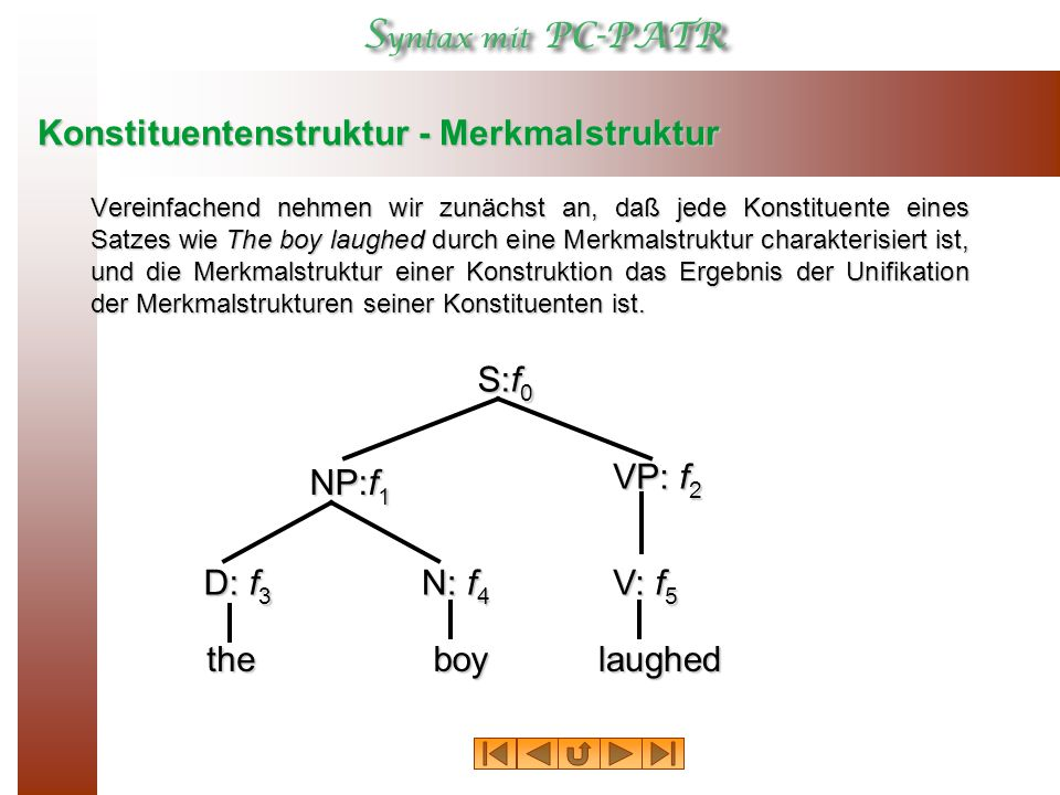 Konstituentenstruktur - Merkmalstruktur