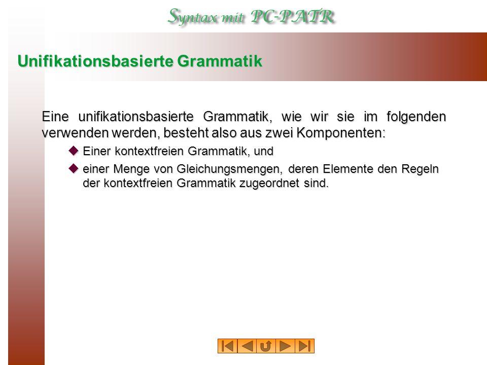 Unifikationsbasierte Grammatik
