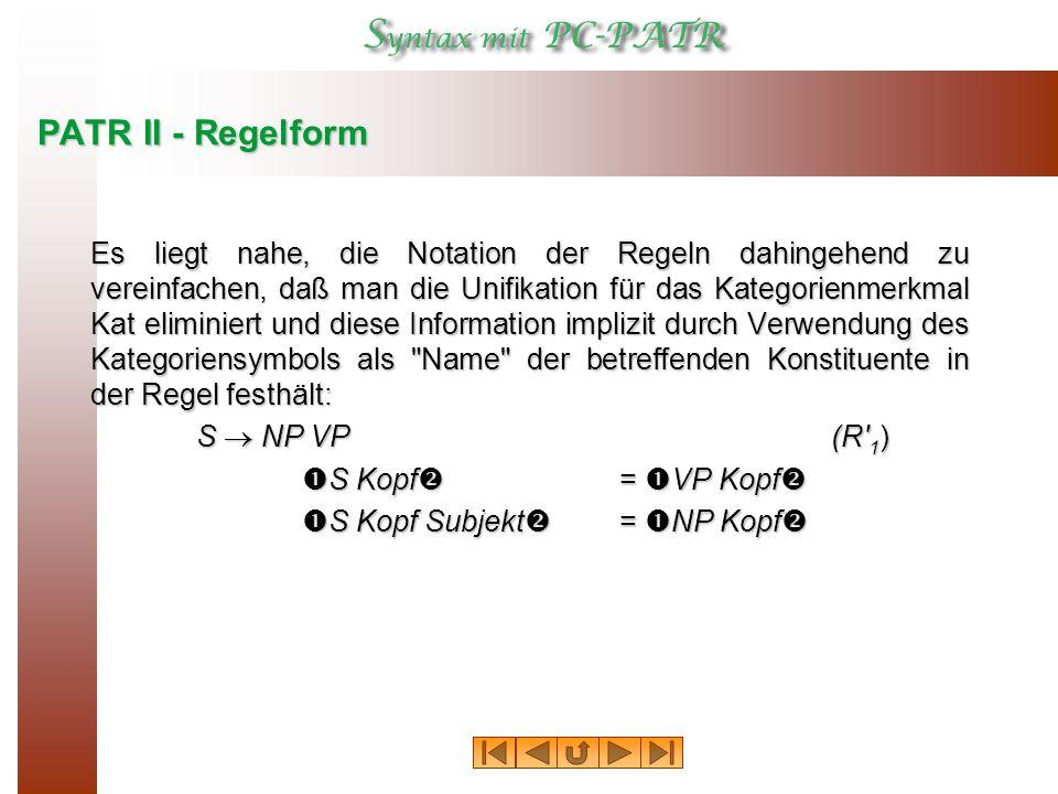 PATR II - Regelform
