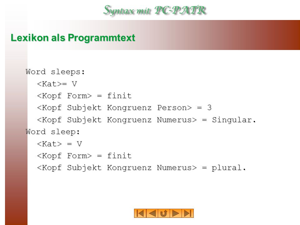 Lexikon als Programmtext