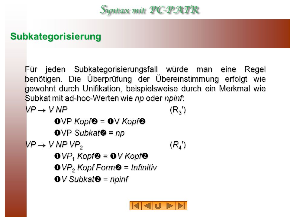 Subkategorisierung