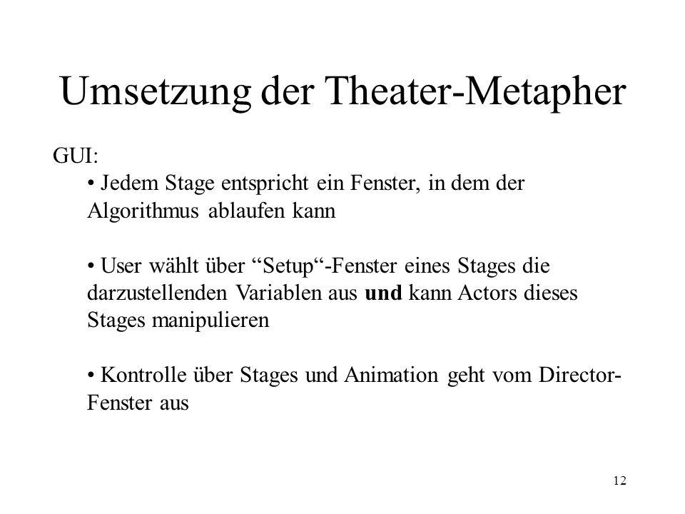 Umsetzung der Theater-Metapher
