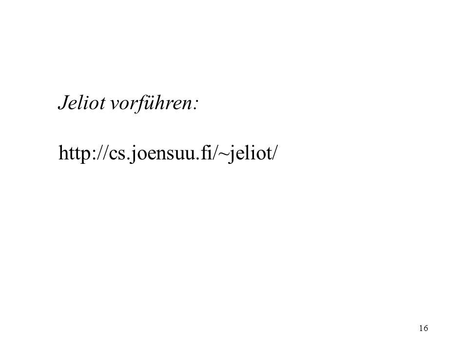 Jeliot vorführen: http://cs.joensuu.fi/~jeliot/