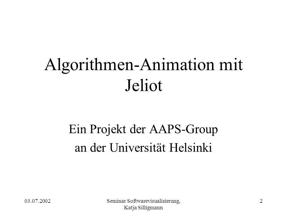 Algorithmen-Animation mit Jeliot