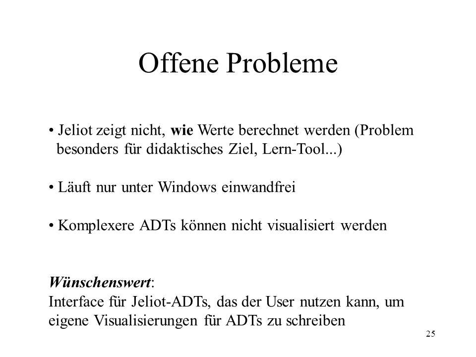 Offene Probleme Jeliot zeigt nicht, wie Werte berechnet werden (Problem. besonders für didaktisches Ziel, Lern-Tool...)