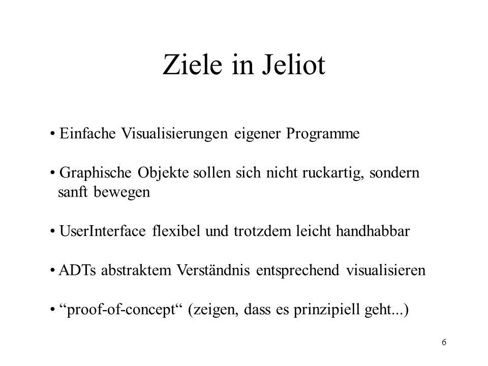 Ziele in Jeliot Einfache Visualisierungen eigener Programme