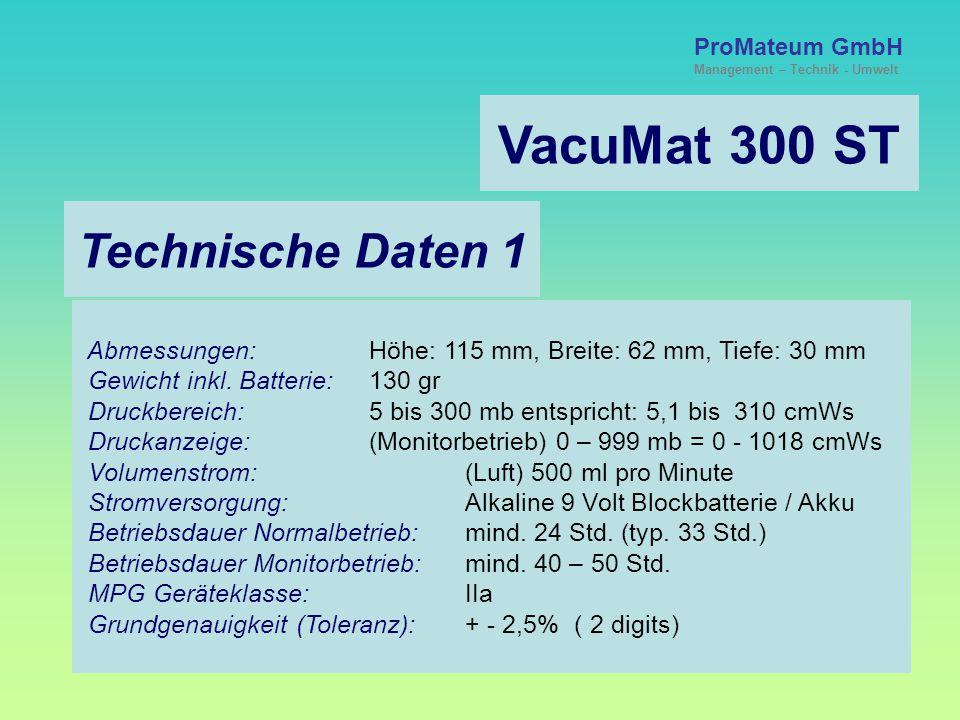VacuMat 300 ST Technische Daten 1