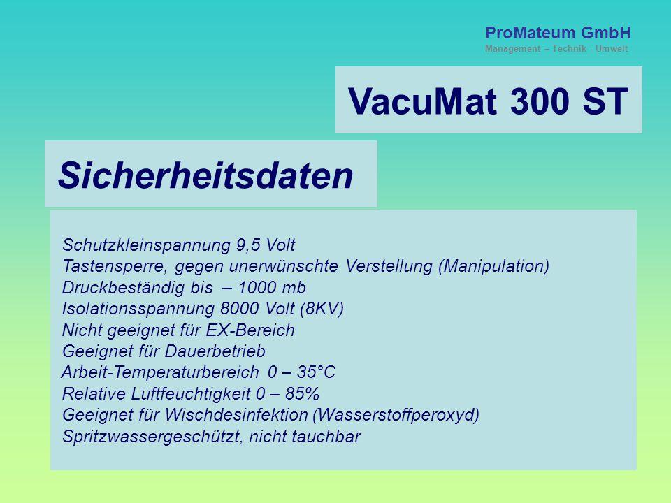 VacuMat 300 ST Sicherheitsdaten