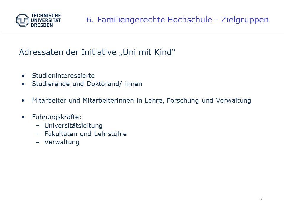 6. Familiengerechte Hochschule - Zielgruppen