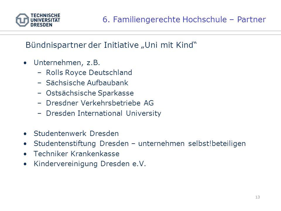 6. Familiengerechte Hochschule – Partner