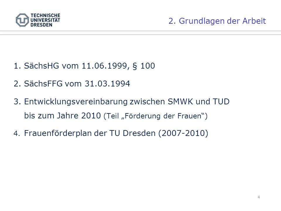 2. Grundlagen der Arbeit SächsHG vom 11.06.1999, § 100