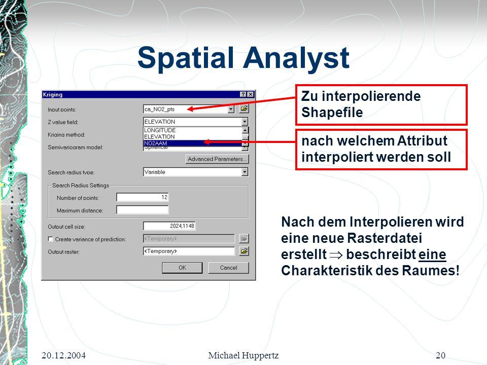 Spatial Analyst Zu interpolierende Shapefile