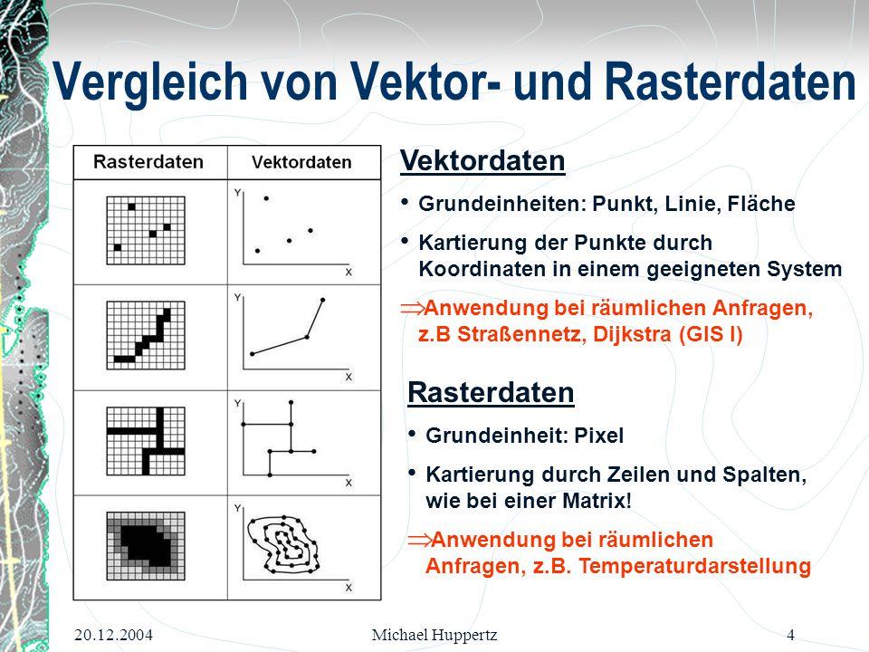 Vergleich von Vektor- und Rasterdaten