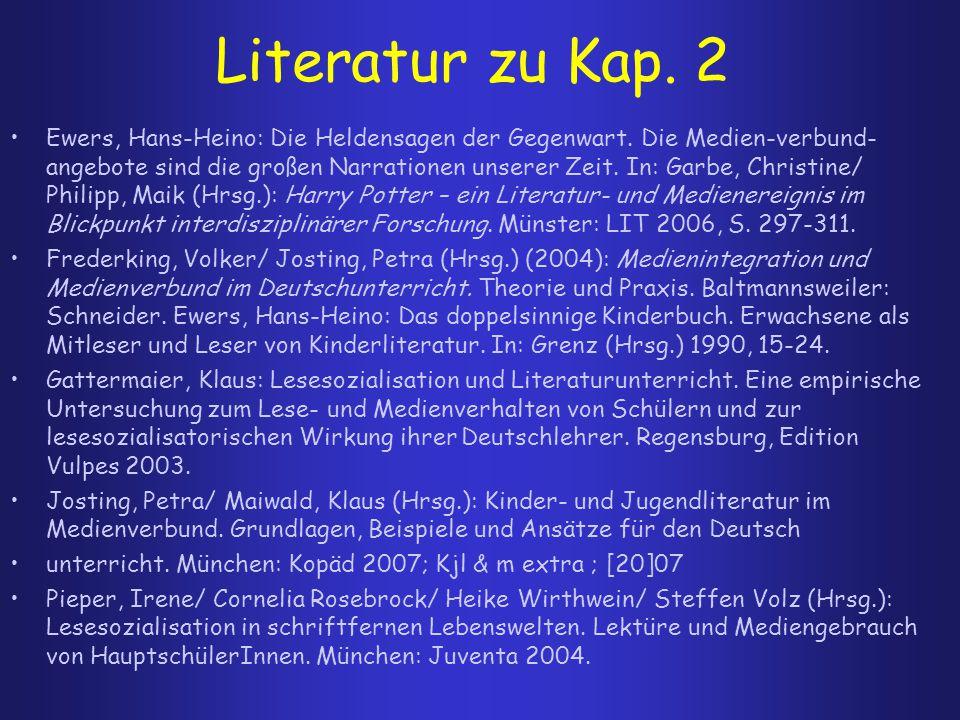 Literatur zu Kap. 2