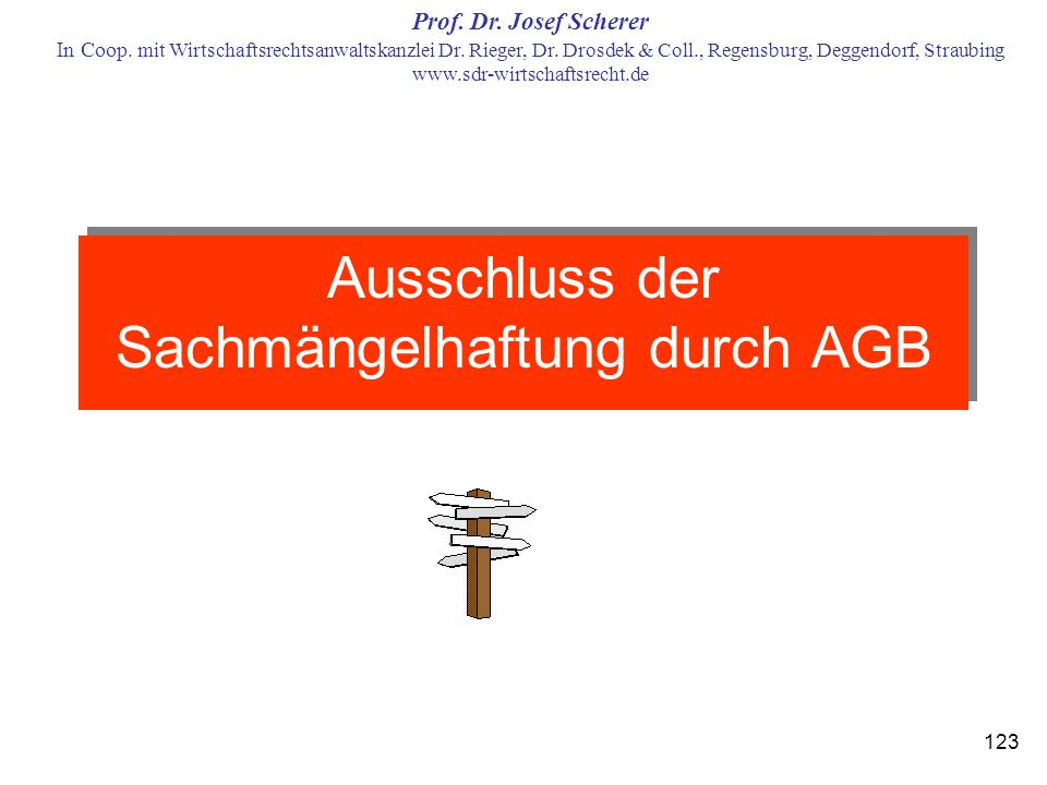 Ausschluss der Sachmängelhaftung durch AGB