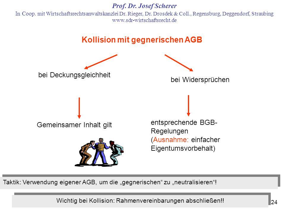 Kollision mit gegnerischen AGB