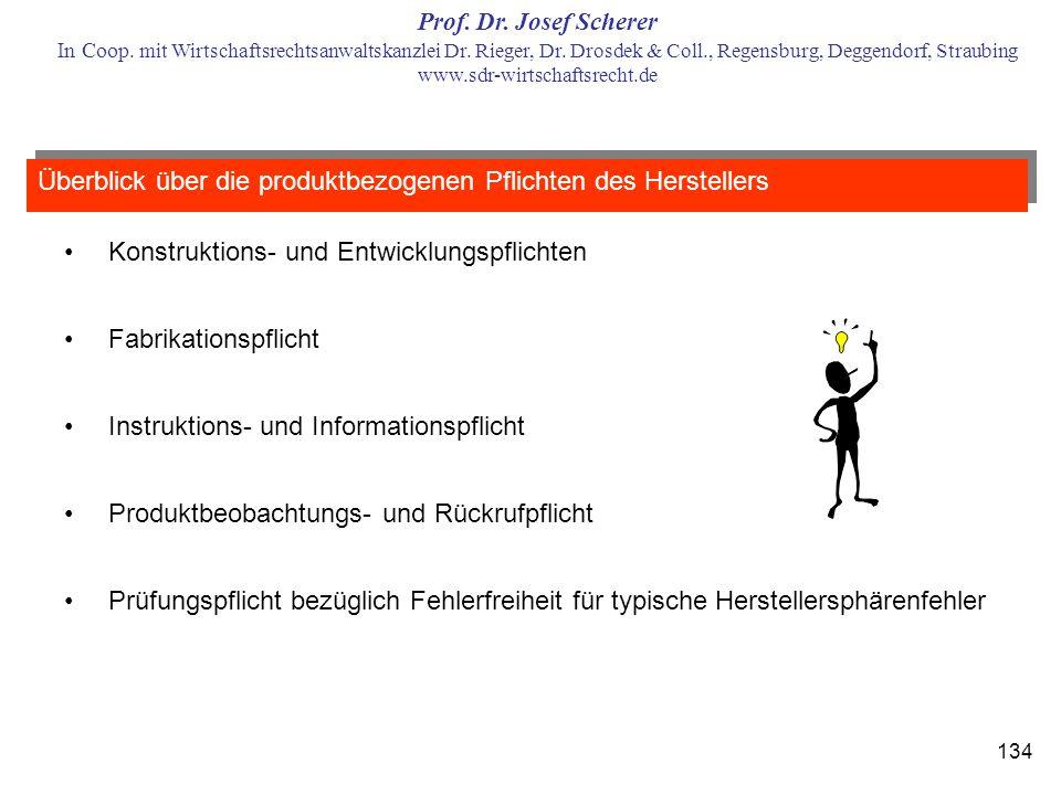 Überblick über die produktbezogenen Pflichten des Herstellers