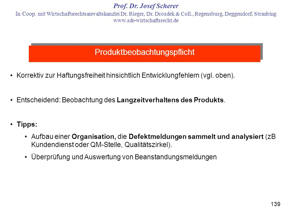 Produktbeobachtungspflicht