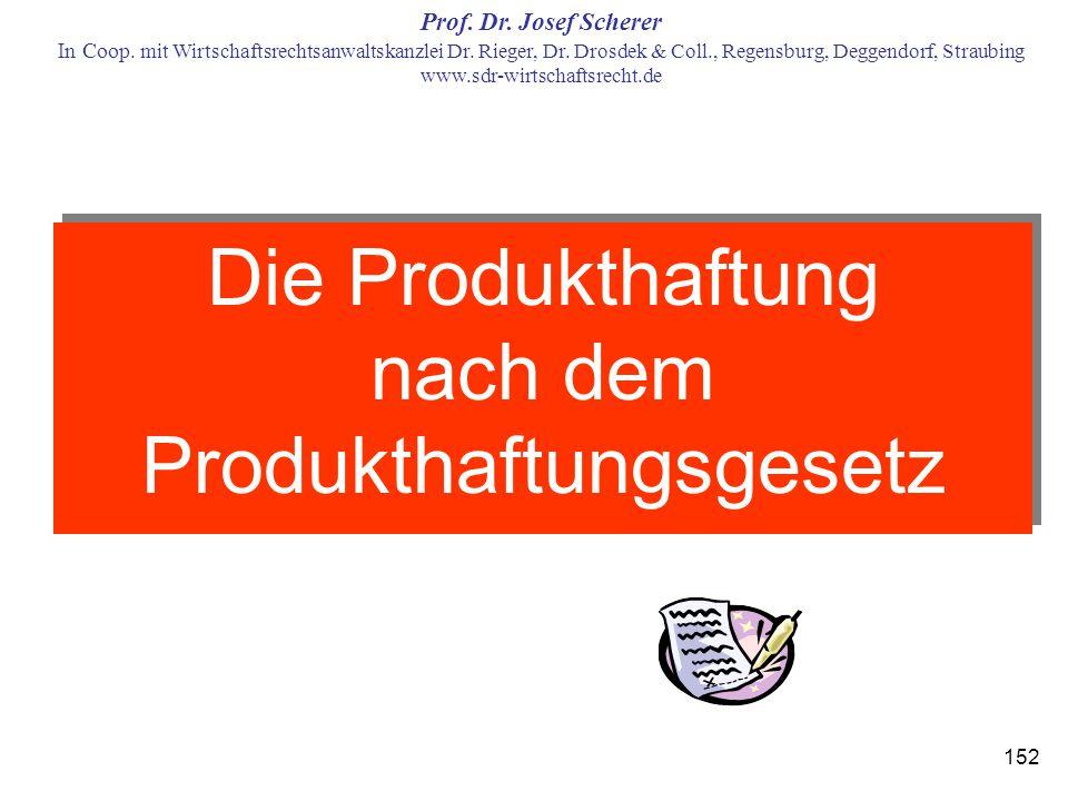 Die Produkthaftung nach dem Produkthaftungsgesetz