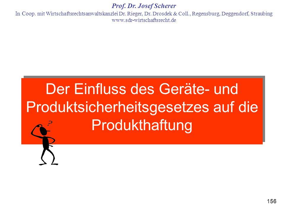 Der Einfluss des Geräte- und Produktsicherheitsgesetzes auf die Produkthaftung