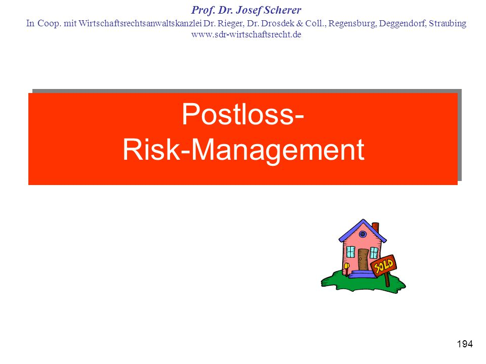 Postloss- Risk-Management