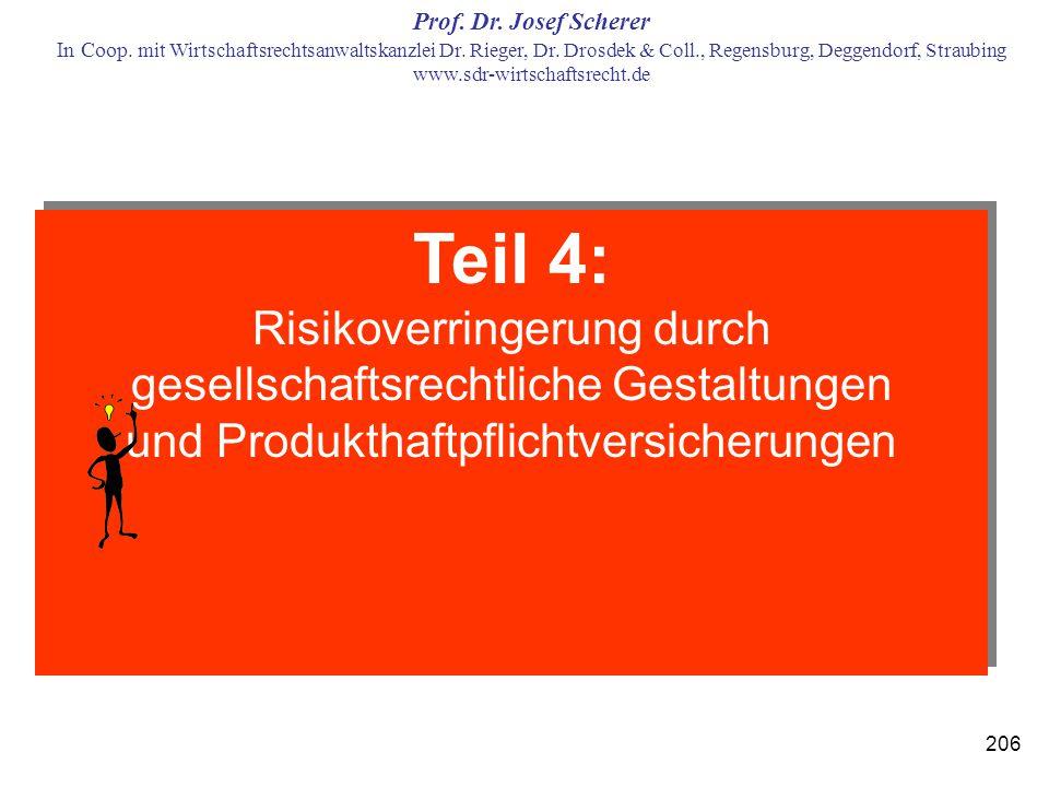 Teil 4: Risikoverringerung durch gesellschaftsrechtliche Gestaltungen