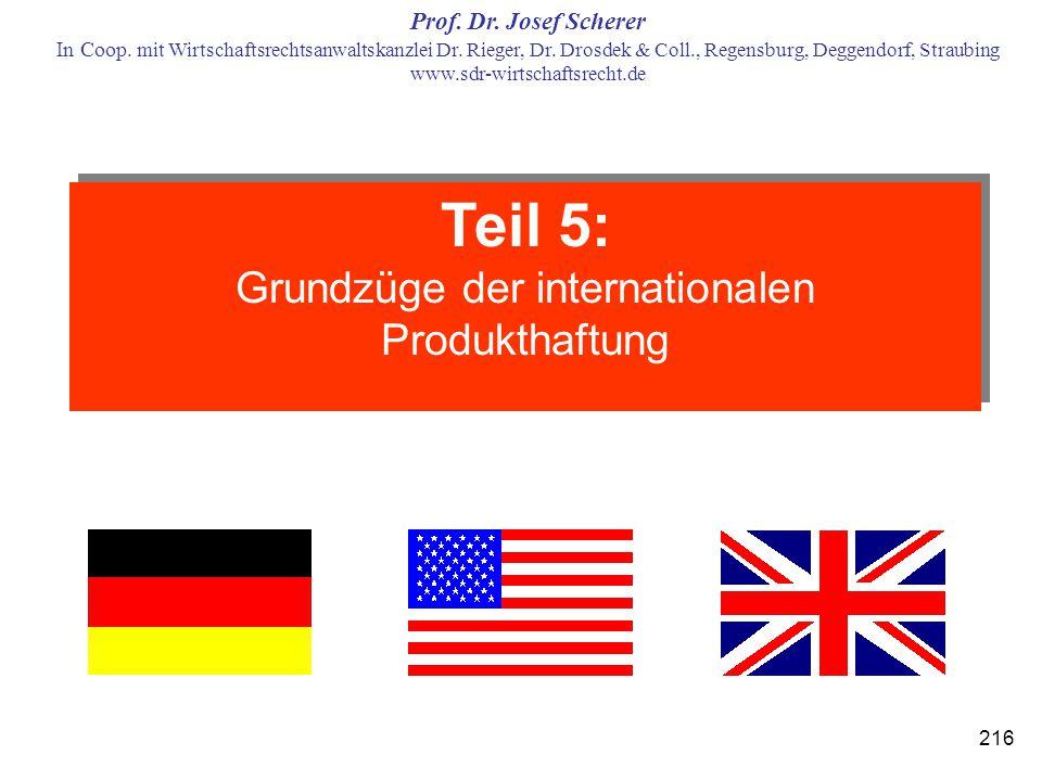 Grundzüge der internationalen Produkthaftung