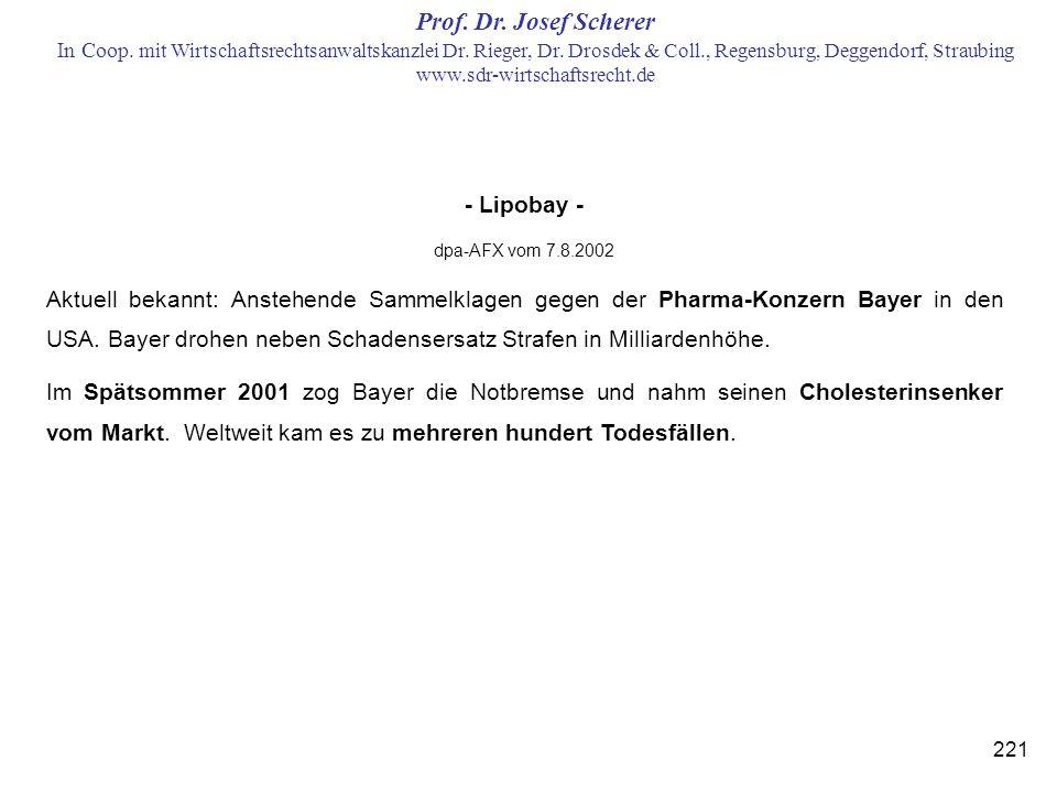 - Lipobay - dpa-AFX vom 7.8.2002.