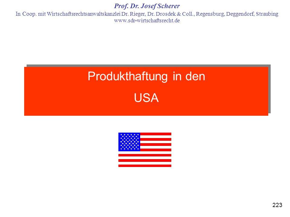Produkthaftung in den USA