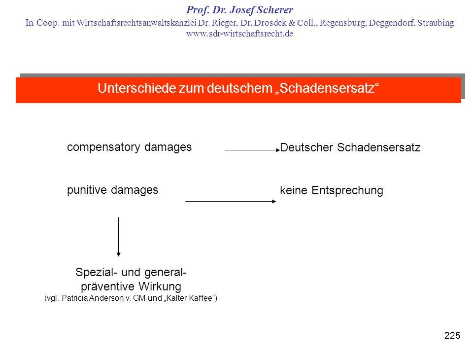 """Unterschiede zum deutschem """"Schadensersatz"""