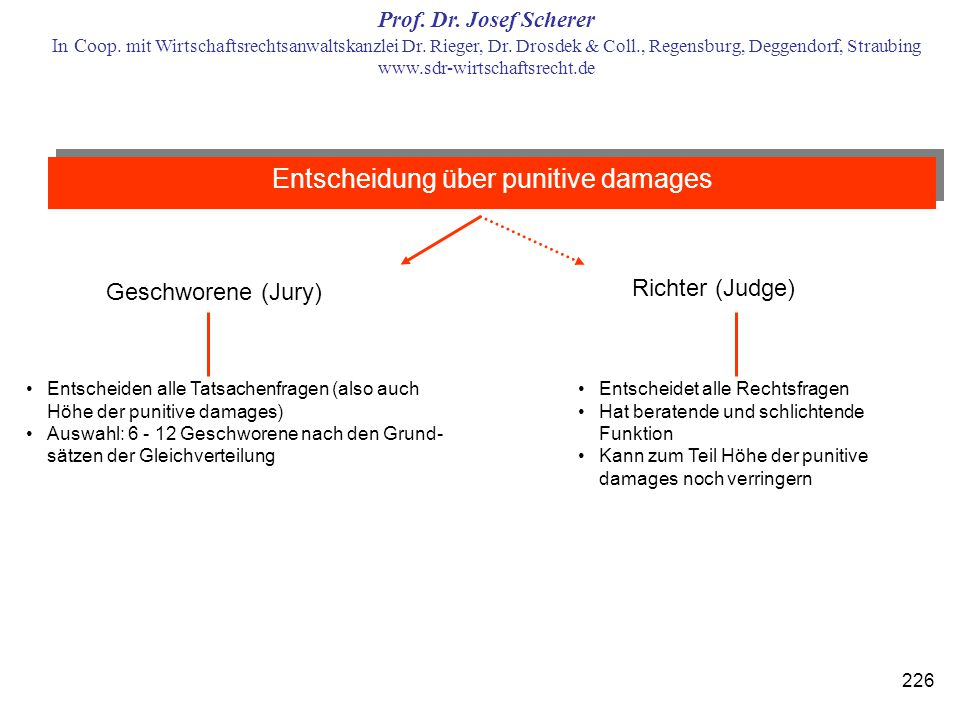 Entscheidung über punitive damages