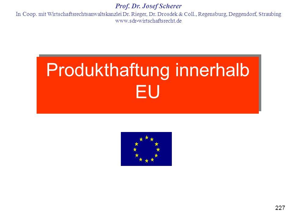 Produkthaftung innerhalb EU