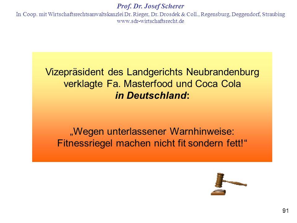 Vizepräsident des Landgerichts Neubrandenburg verklagte Fa