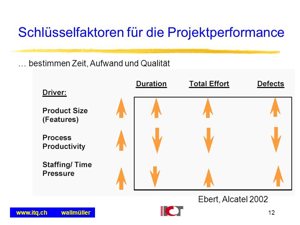 Schlüsselfaktoren für die Projektperformance