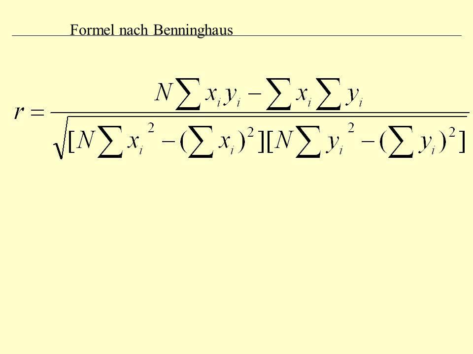 Formel nach Benninghaus