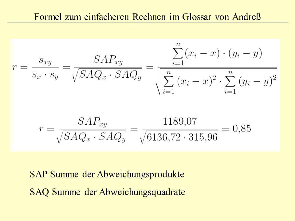 Formel zum einfacheren Rechnen im Glossar von Andreß