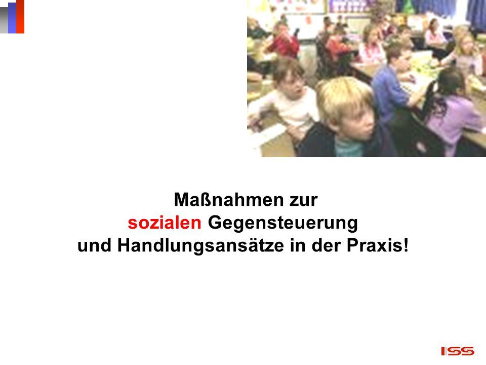 Maßnahmen zur sozialen Gegensteuerung und Handlungsansätze in der Praxis!