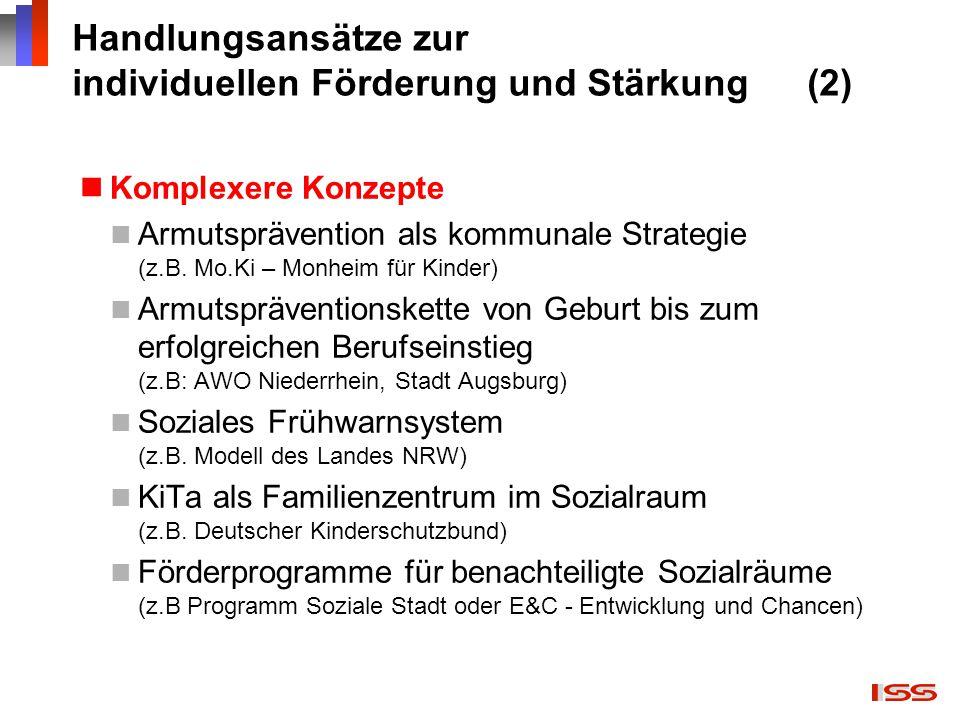 Handlungsansätze zur individuellen Förderung und Stärkung (2)