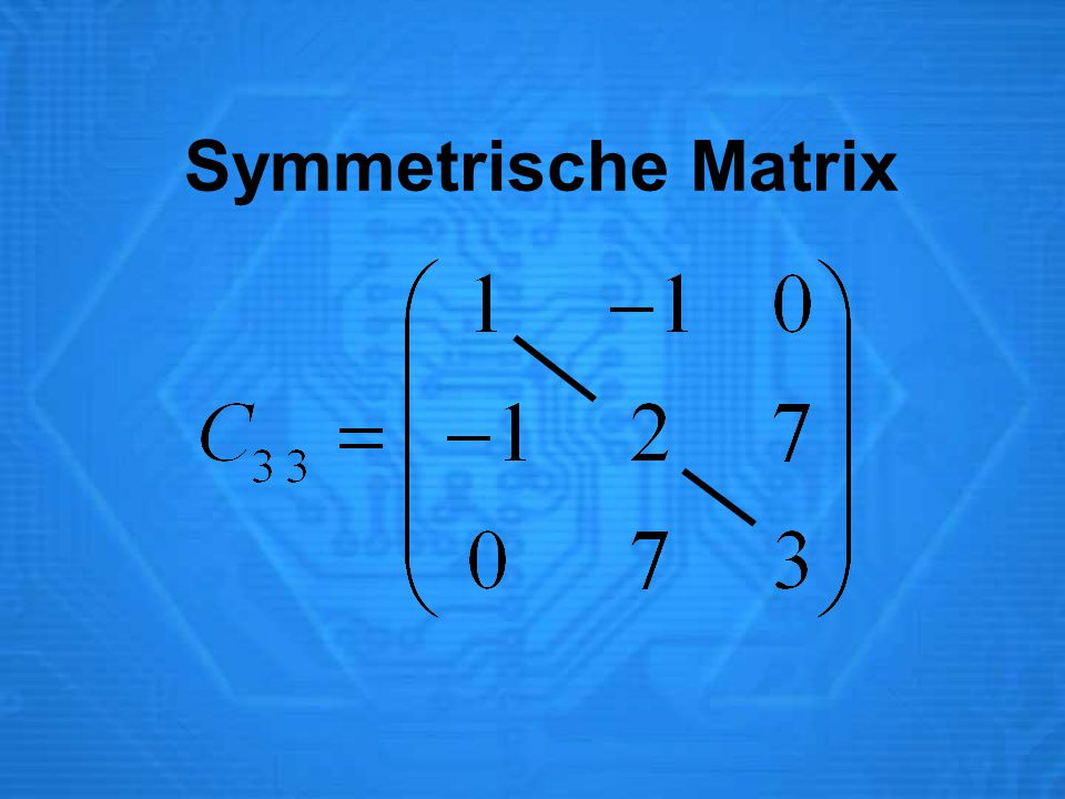 Symmetrische Matrix