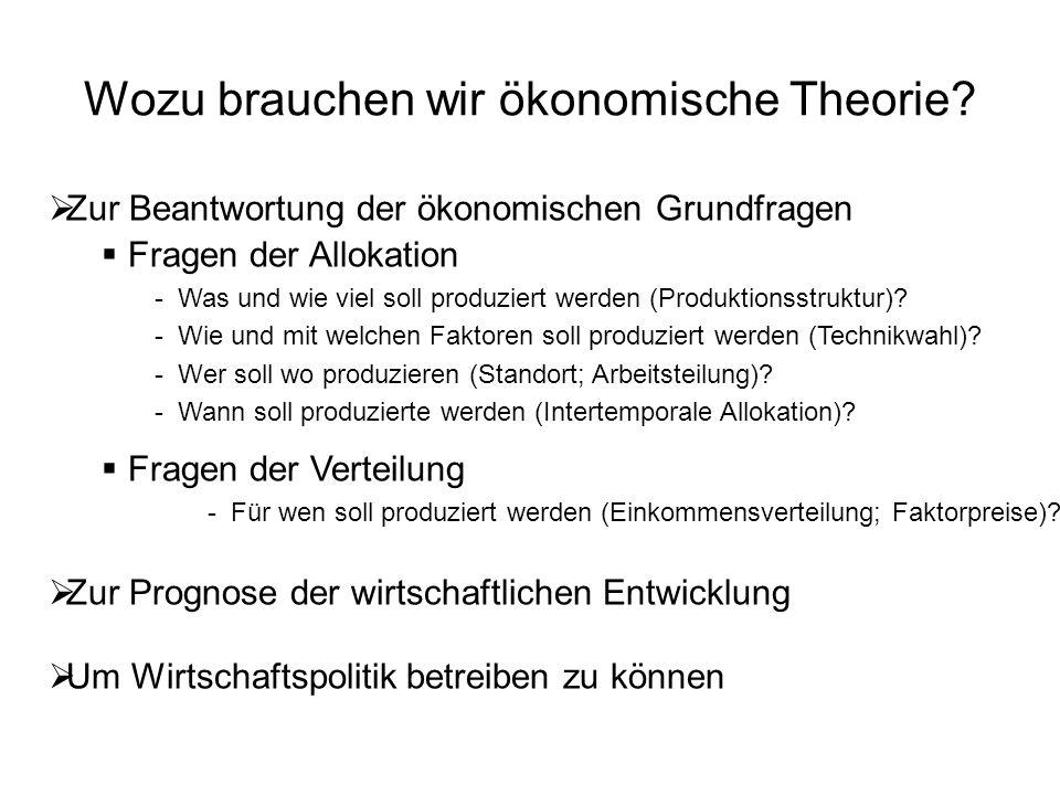 Wozu brauchen wir ökonomische Theorie