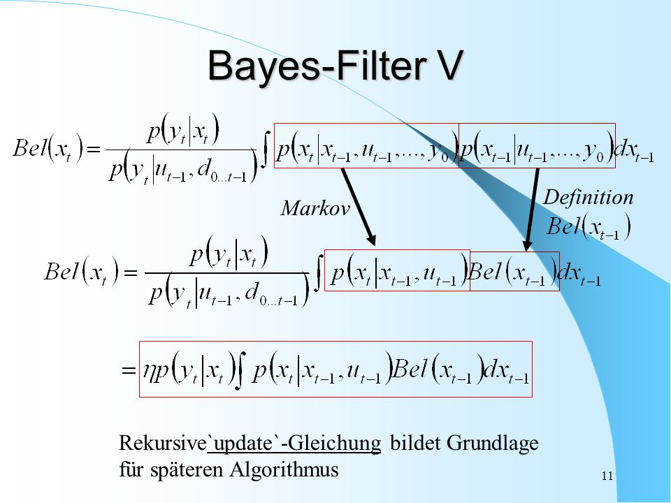 Bayes-Filter V Definition Markov