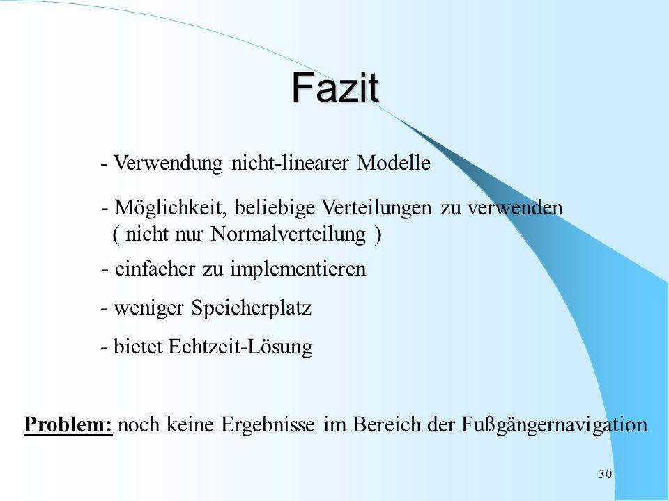 Fazit - Verwendung nicht-linearer Modelle