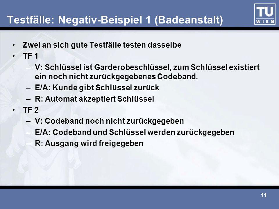 Testfälle: Negativ-Beispiel 1 (Badeanstalt)