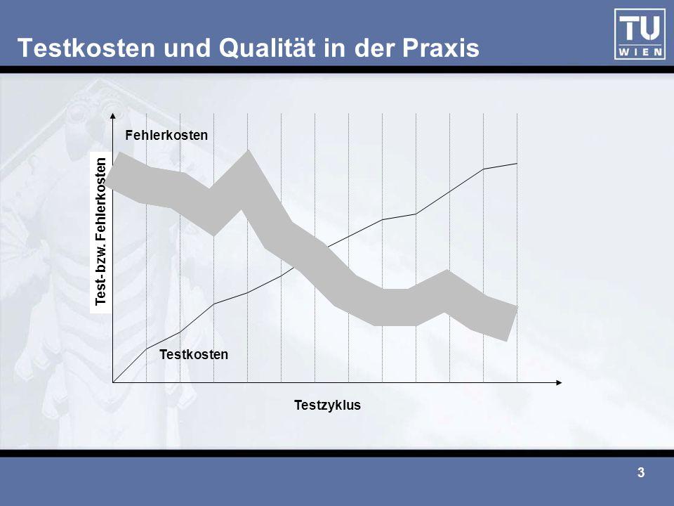 Testkosten und Qualität in der Praxis