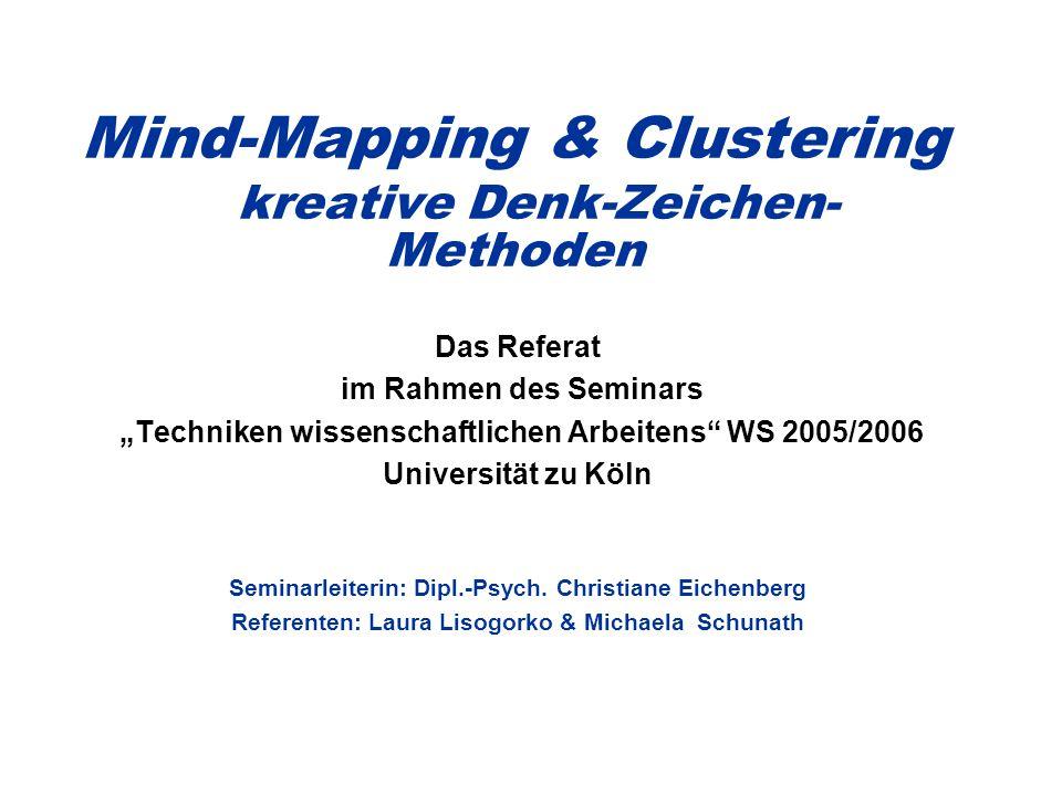 Mind-Mapping & Clustering kreative Denk-Zeichen-Methoden